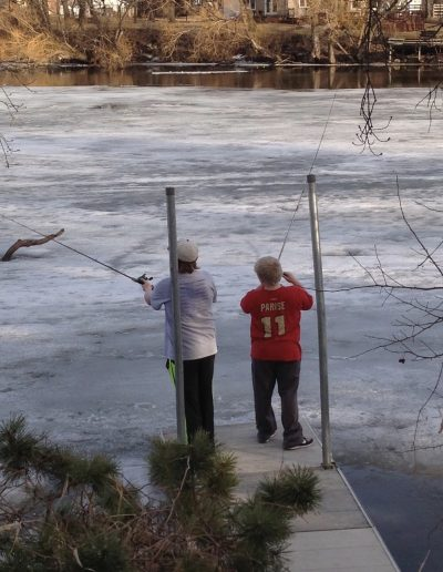Ice Fishing on the River