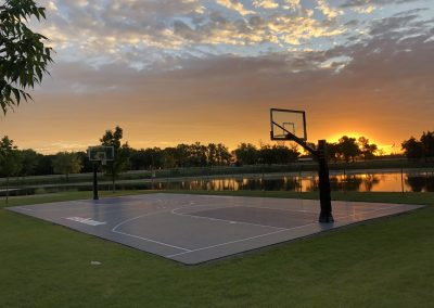 Great basketball courts in Thief River Falls.